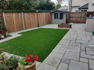 Artificial Grass and Patio
