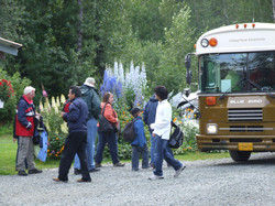 Guests boarding the bus