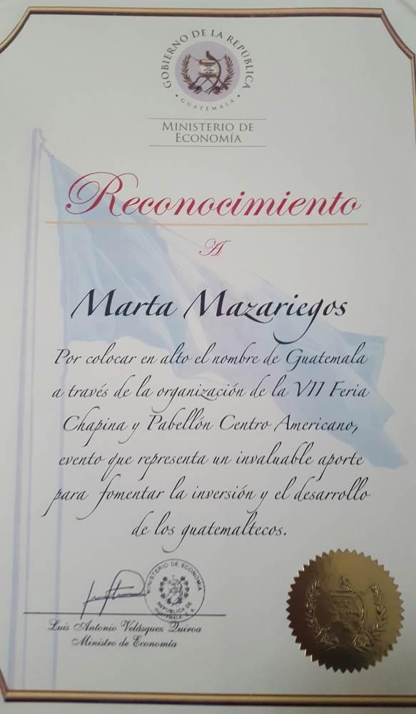 GOBIERNO DE GUATEMALA RECONOCIMIENTO
