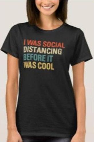 Social Distancing Women's Dark T-shirt