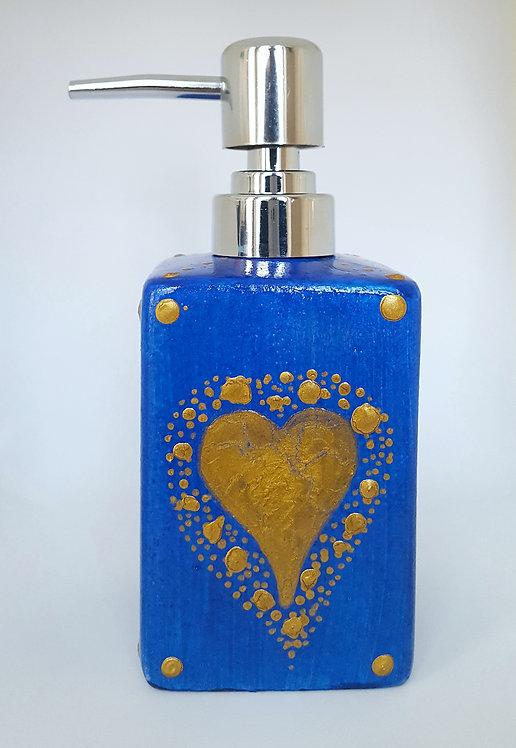BLUE HEART LOVE SOAP DISPENSER