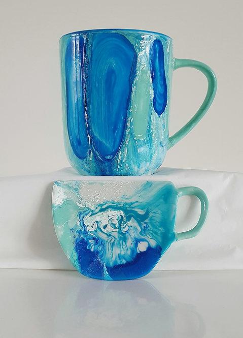 OCEAN TEA SET Hand painted | Dishwasher Safe |