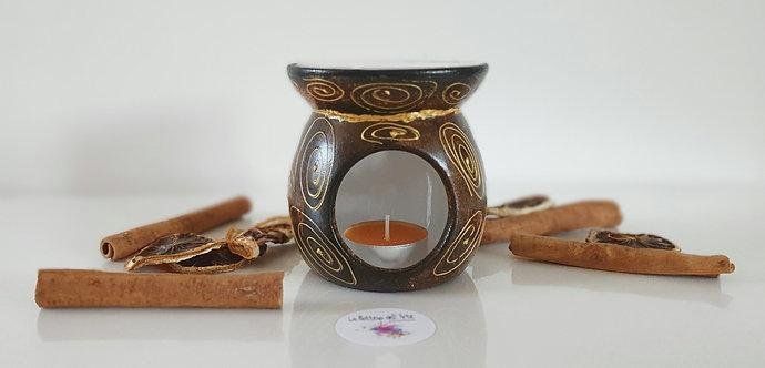 MY AFRICA OIL BURNER Hand painted | Dishwasher Safe |
