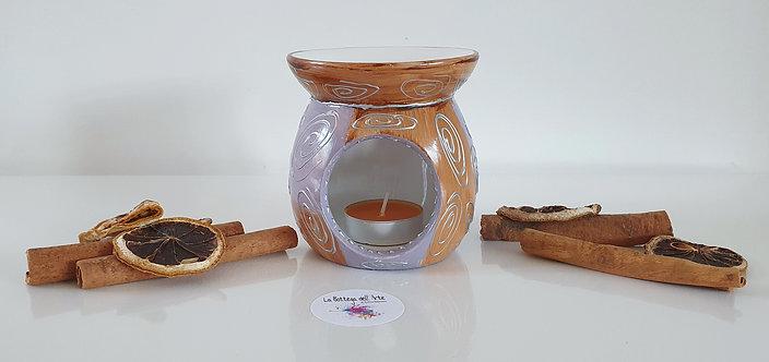 ORIENTAL OIL BURNER Hand painted | Dishwasher Safe |