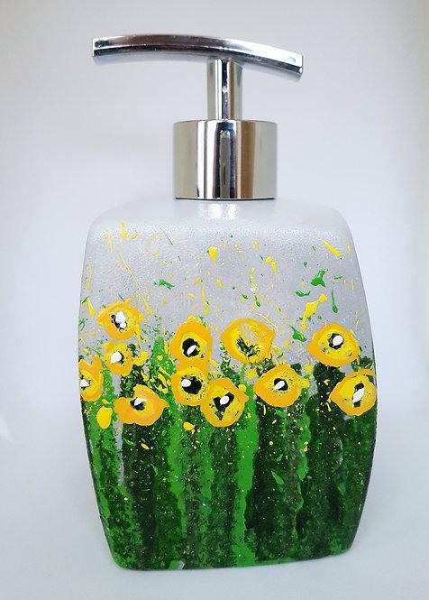 MEADOW YELLOW FLOWERS FEAST SOAP DISPENSER