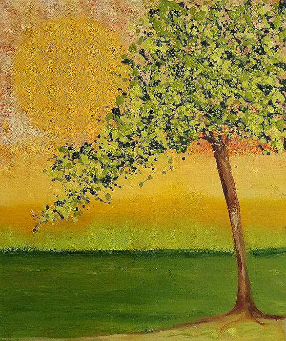 Green Autumn Tree