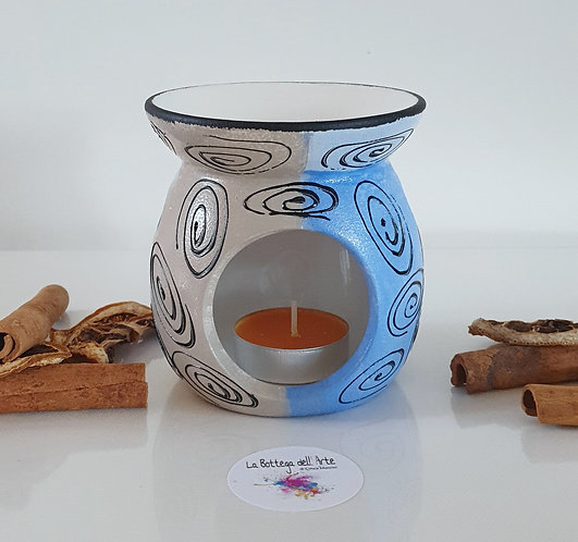 BLUE DREAM OIL BURNER Hand painted | Dishwasher Safe |