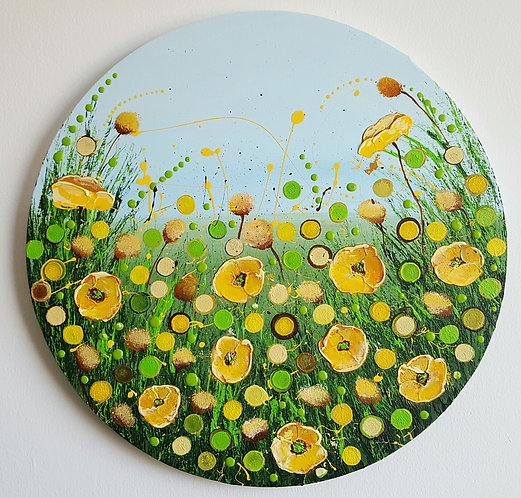 YELLOW POPPIES FIELD