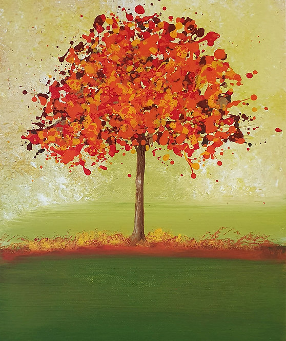 Red Autumn Tree