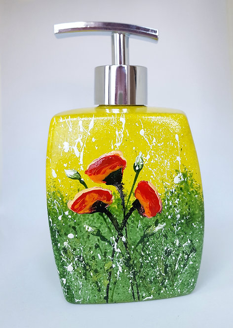 POPPIES IN THE BREEZE SOAP DISPENSER