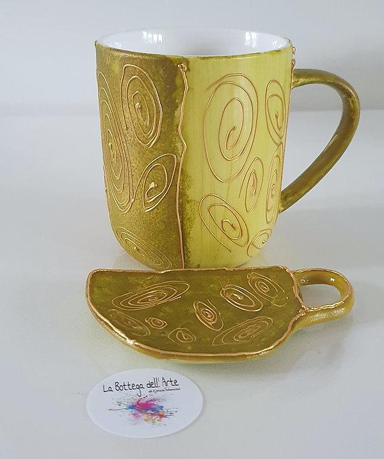 0RIENTAL TEA SET Hand painted | Dishwasher Safe |