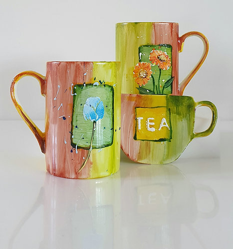 AUTUMN TEA SET Hand painted | Dishwasher and Microwave Safe |