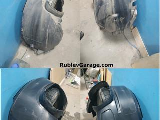 Шумоизоляция передних и задних арок на Ford Focus 3 материалом Шумофф