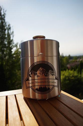 1/2 gallon (64oz) Stainless Steel mini-keg