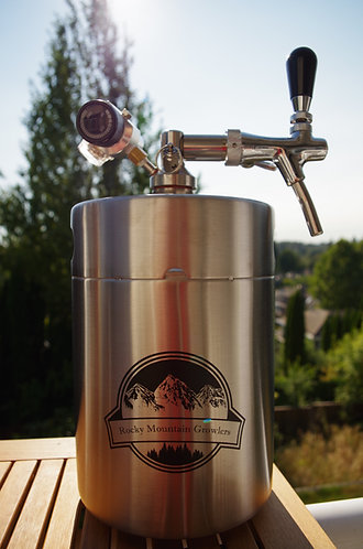 1.5 gallon (192oz)  Mini-Keg with CO2 tap system