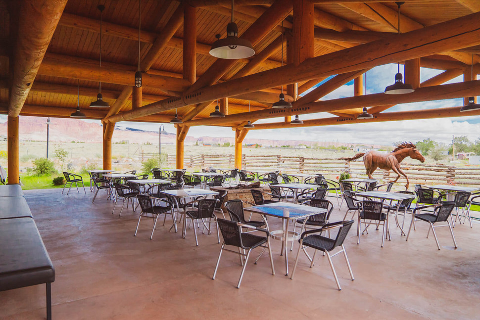 Outdoor Patio & Event Seating Near Capitol Reef
