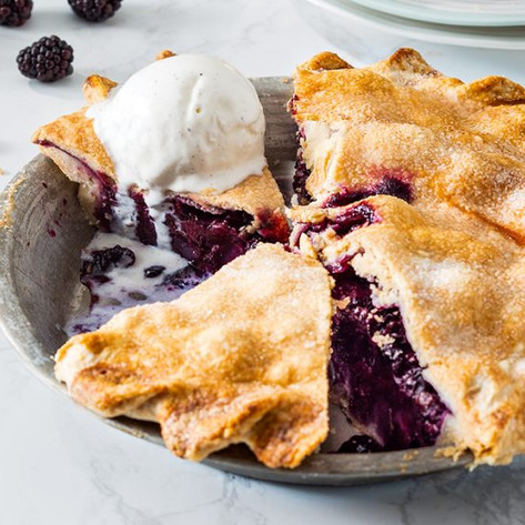 Homemade Southwestern Berry Pies with Ice Cream
