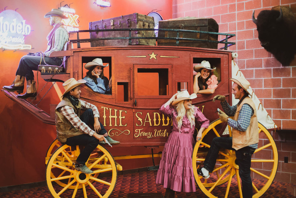 Saddlery Cowboy Stagecoach Photo Booth