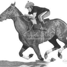 Cavalo de corrida II: Alterações feitas no desenho em relação a referência