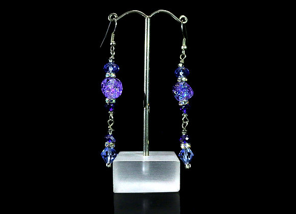 Dichroic Earrings Set 4
