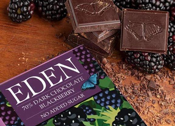 Eden Dark Chocolate Blackberry Bar
