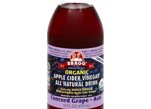 Grape-Acai Apple Cider Vinegar Drink