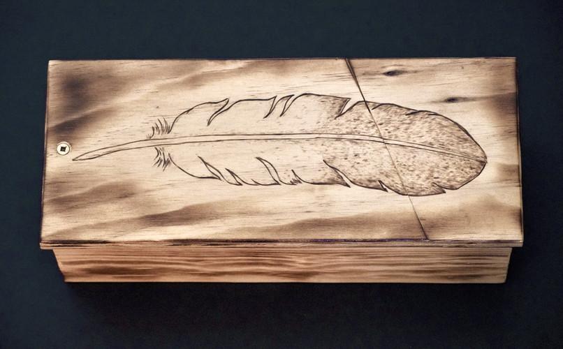 Wood Smudge Box