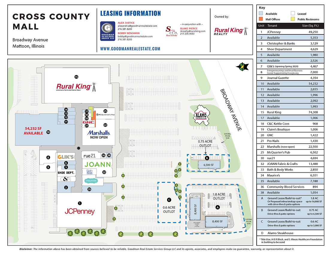 Mattoon IL - Cross County Mall Site Plan