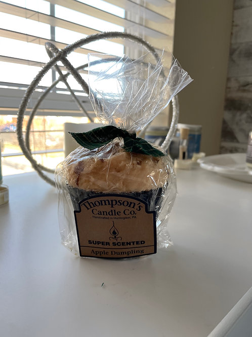 Thompson's Muffin Candle with fluted tin