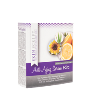 Skinscript Anti-Aging Serum Kit with Tri-Peptide Eye Cream
