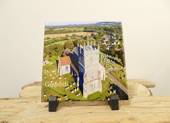 Godshill Church Tile