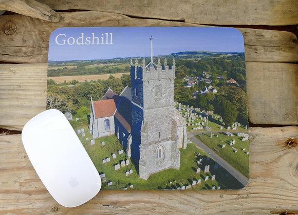 Godshill Church Mouse Mat