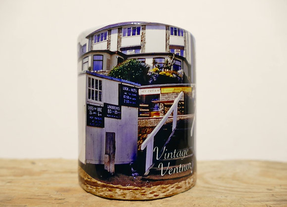 Vintage Ventnor Beach Office Mug