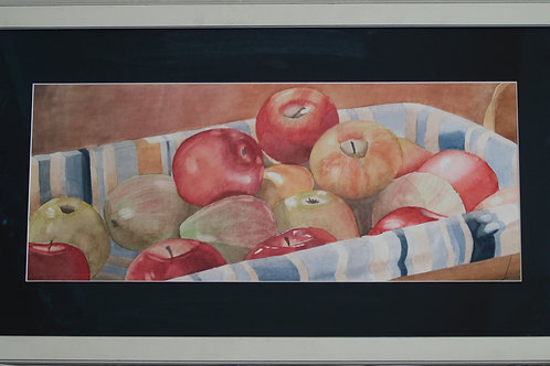 Still Life in the Kitchen: Basket of Apples