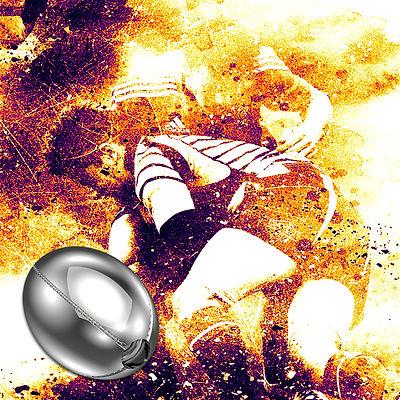 Pingente em prata Bola de Rugby