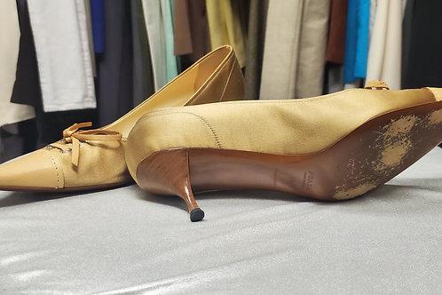 Gold Prada High Heels