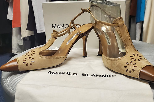 Beige Manolo Blahnik High Heels