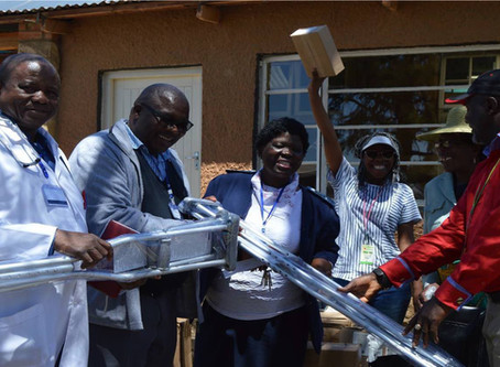 Arms of Care and Eagles Path Deliver Container of Medical Equipment and Supplies to Lesotho