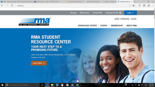 RMA Student Resource Center home page ba
