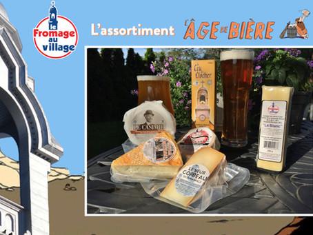 Nouvel assortiment Fromage au Village: L'Âge de Bière !