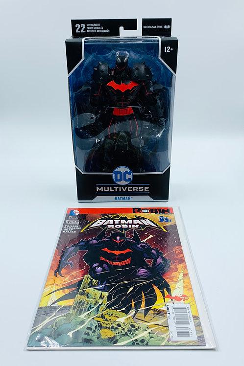 DC Multiverse Batman McFarlane Toys Action Figure and Comic Book