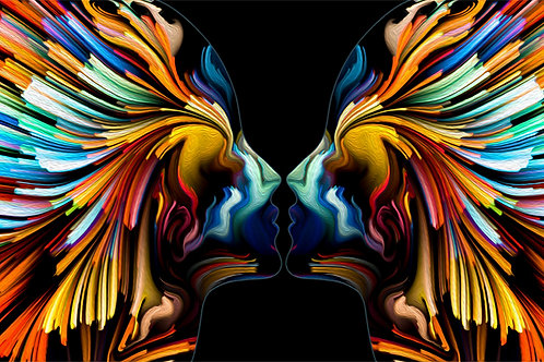 Abstract Colorful Faces