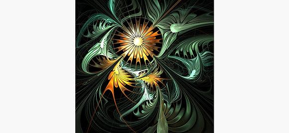 Abstract Sun Flower