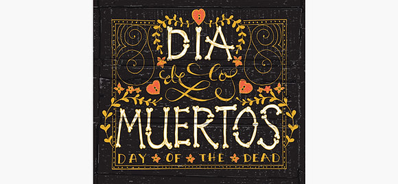 Dia Muertos Day of the Dead Canvas and Metal Print