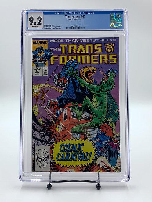 Transformers #44 Marvel Comics CGC 9.2