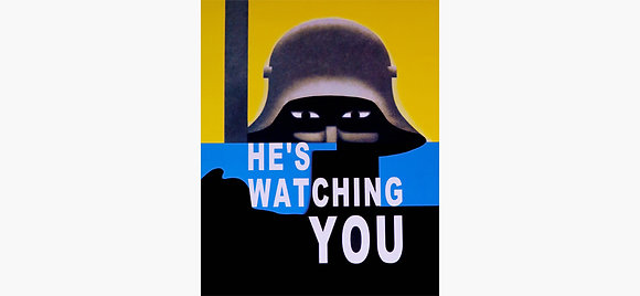 He's Watching You Vintage Art