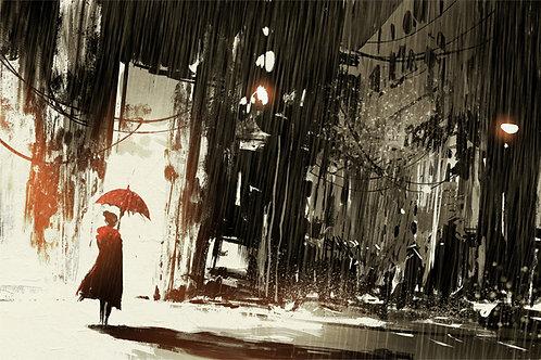 Urban City Animated Art Abstract