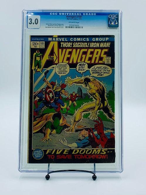 Avengers #101 Marvel Comics, CGC 3.0 Vintage 1972