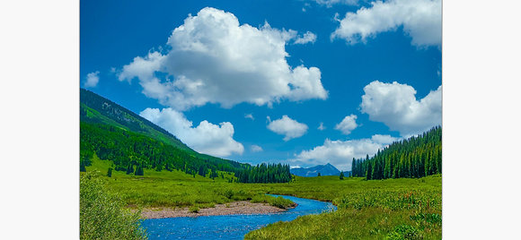 East River at Crested Butte By Tom Potter