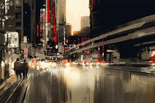 City Night Abstract